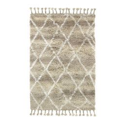 HKliving Woolen Berber vloerkleed 120x180 natural shades