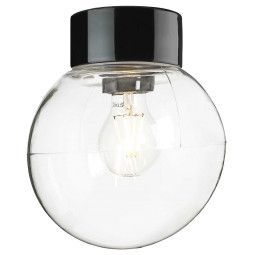 Ifö Electric Classic Globe plafond-en wandlamp porselein clear IP54 200mm