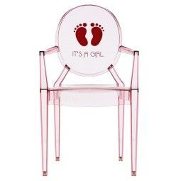 Kartell Lou Lou Ghost It's a Girl kinderstoel roze