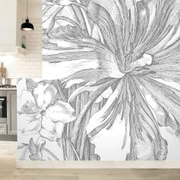 KEK Amsterdam Engraved Flowers II behang