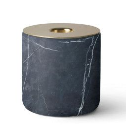 Menu Chunk of Black Marble kaarsenstandaard
