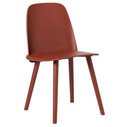 Muuto Outlet - Nerd Chair stoel donkerrood