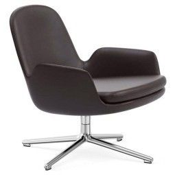 Normann Copenhagen Era Lounge Chair Low Swivel fauteuil met aluminium onderstel
