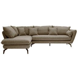 Nuuck Kvinde Sofa bank met chaise longue links Fast 51 Kaki