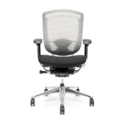 Okamura REFURBISHED Contessa Chair bureaustoel wit/zwart, aluminium