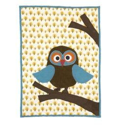 Ferm Living Owl Quilted plaid