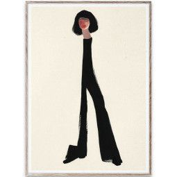 Paper Collective Black Pants poster incl. eiken lijst 50x70