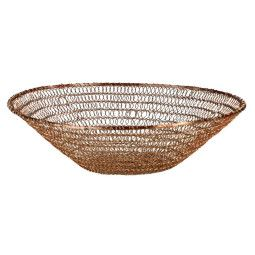 Pols Potten Bowl flat wire knitted copper mand
