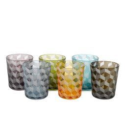 Pols Potten Multicolour Blocks glas 6 stuks