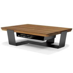 QLiv Crossings salontafel 120x120 met lectuurbak
