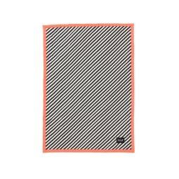 Ferm Living Black Stripe Quilted plaid neon