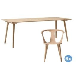 &tradition In Between tafel 200x90 eetkamerset + 6 stoelen