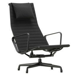 Vitra Aluminium Chair Black EA 124 zwart