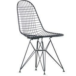 Vitra Eames Wire Chair DKR stoel zwart (oude zithoogte)