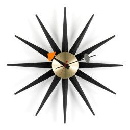 Vitra Sunburst Clock wandklok Black Collection