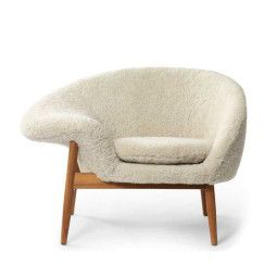 Warm Nordic Fried Egg Sheepskin fauteuil