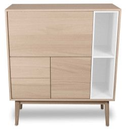 Wood and Vision Urban Narrow Highboard opbergkast