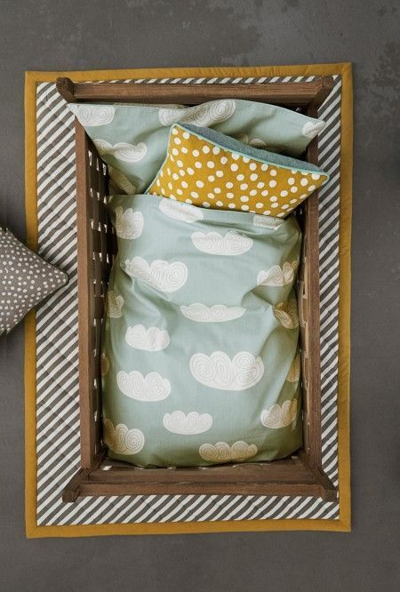 Ferm Living Cloud dekbedovertrek mint kids