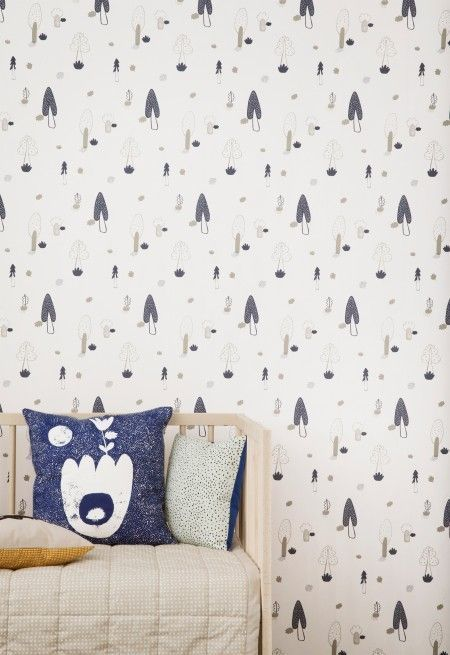 Ferm Living Forest behang blauw