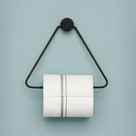 Ferm Living Black toiletrolhouder