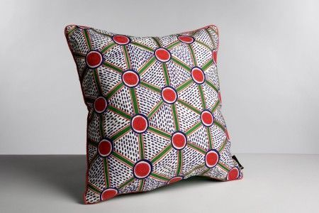 Hay embroidered cushion cells kussen large flinders