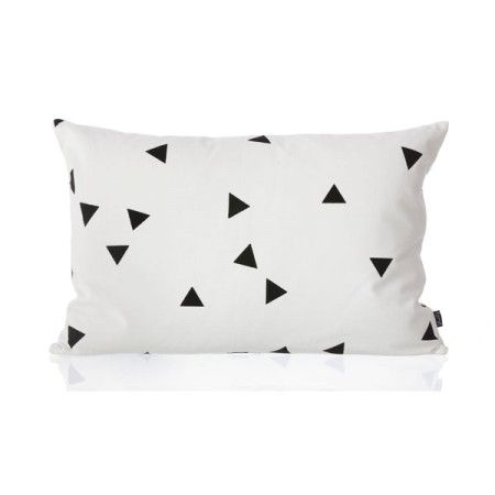 Ferm Living Black Mini Triangle Cushion kussen 60x40