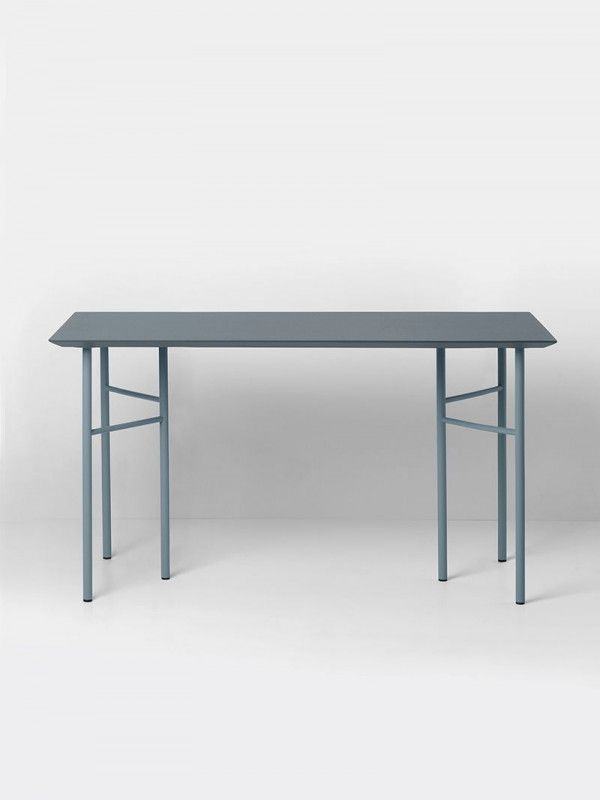 Ferm Living Mingle Desk Dusty Blue Linoleum bureau 135x65 verstelbaar
