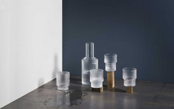 Ferm Living Ripple glas set van 4