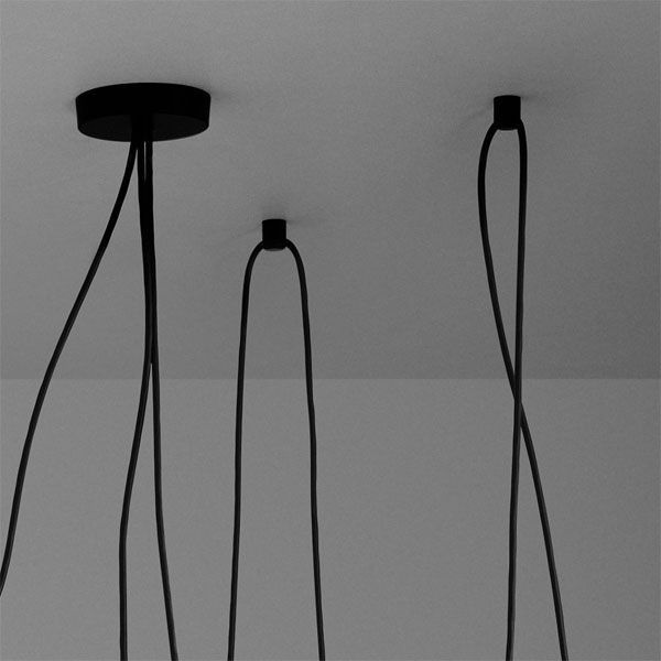 Flos Aim hanglamp set LED zwart