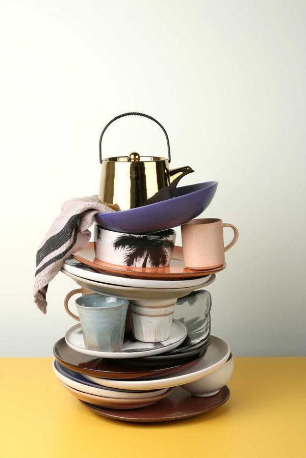 HKliving Bold and Basic theepot goud