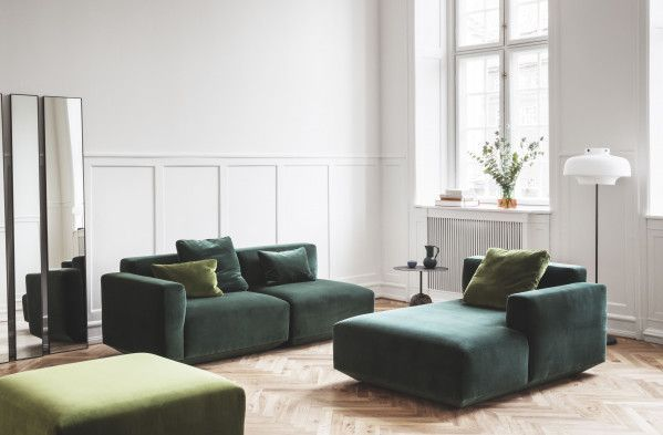 &tradition Develius bank 2-zits met chaise longue rechts
