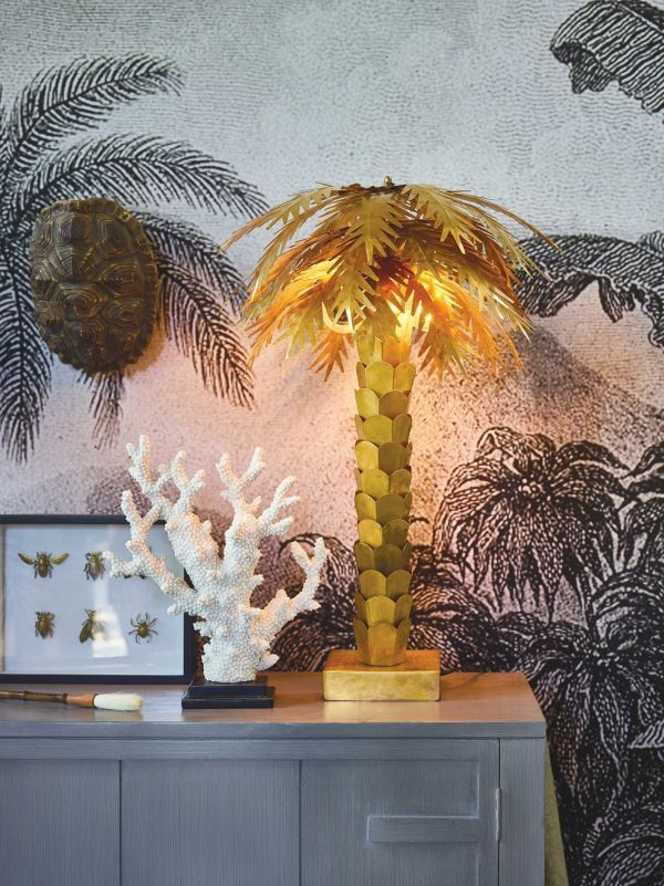 HKliving Brass Palm tafellamp