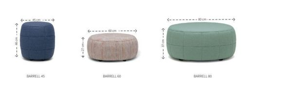 Design on Stock Barrell poef 60