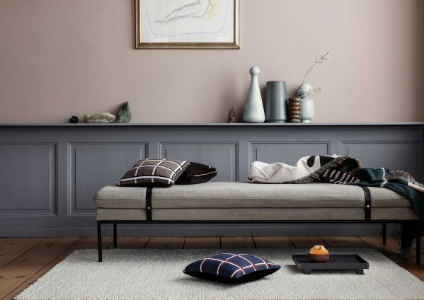 Ferm living turn daybed bank cotton zwarte band flinders