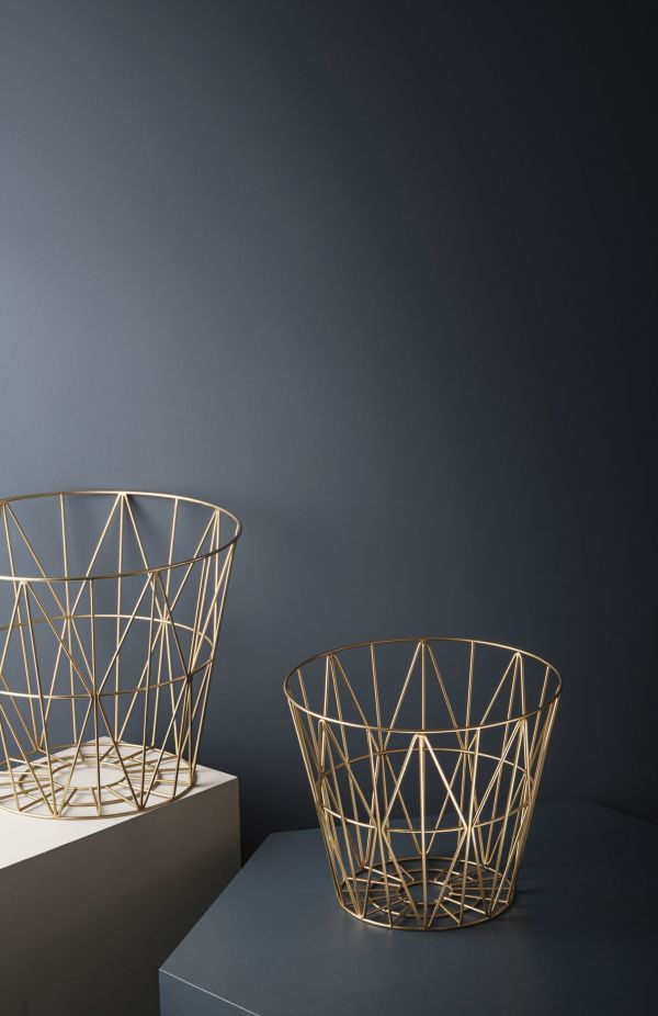 Ferm Living Wire Basket Brass opbergmand large