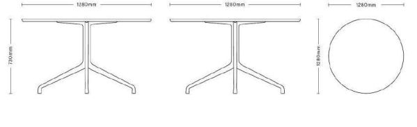 Hay About a Table AAT20 tafel 100 cm
