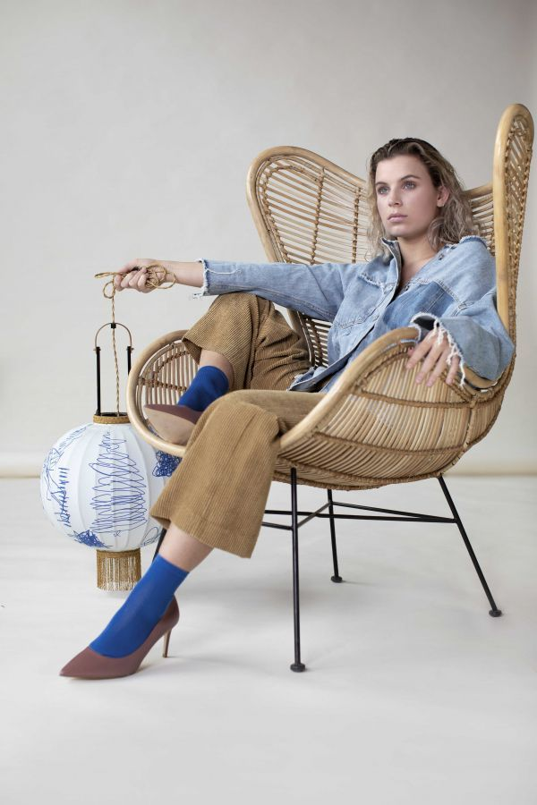 HKliving Rattan Egg fauteuil