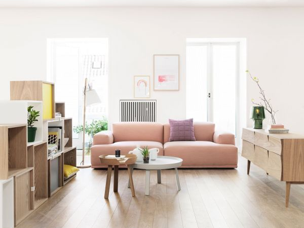 Muuto Connect bank driezitter met poef