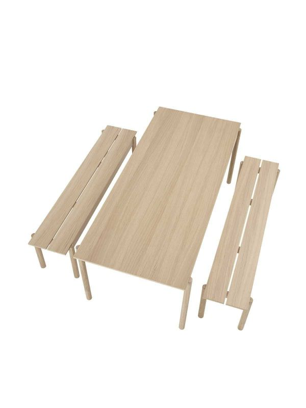Muuto Linear wood bank 170x34