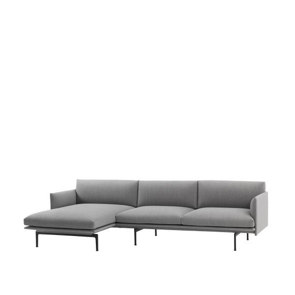 Muuto Outline bank 3-zits met chaise longue links