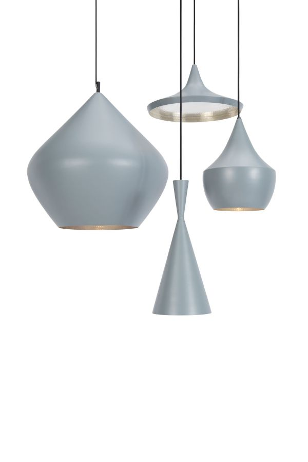 Tom Dixon Beat Light Tall hanglamp grijs