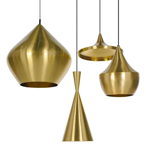 Tom Dixon Beat Light Tall hanglamp messing