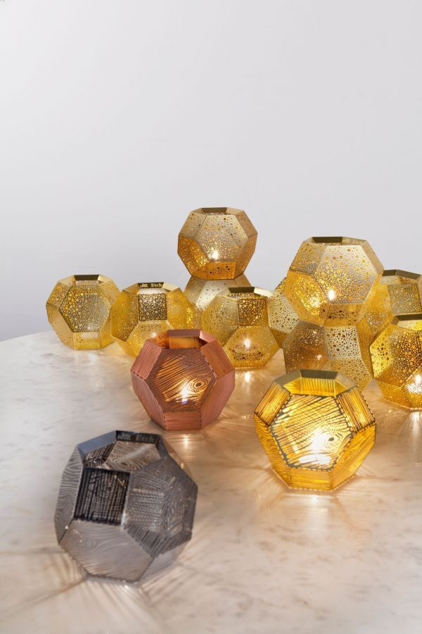 Tom Dixon Etch Wood theelicht